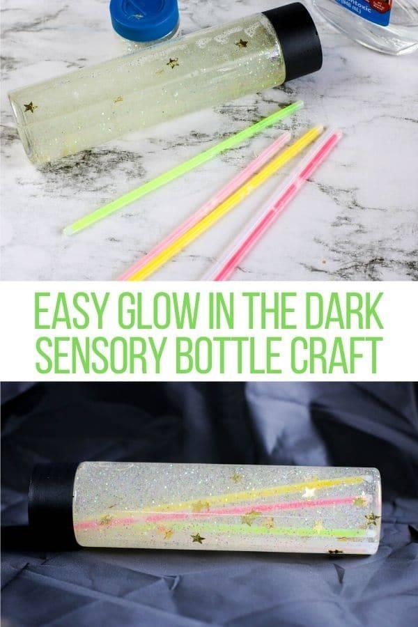 glow in the dark sensory bottle supplies