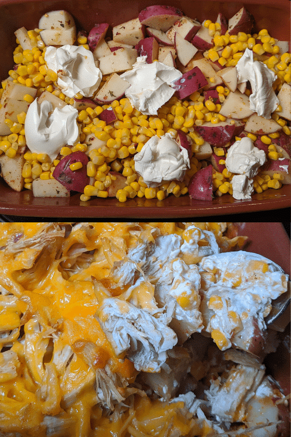 chicken with cream cheese and corn