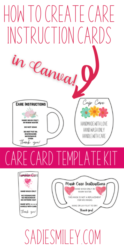 care card instruction templates