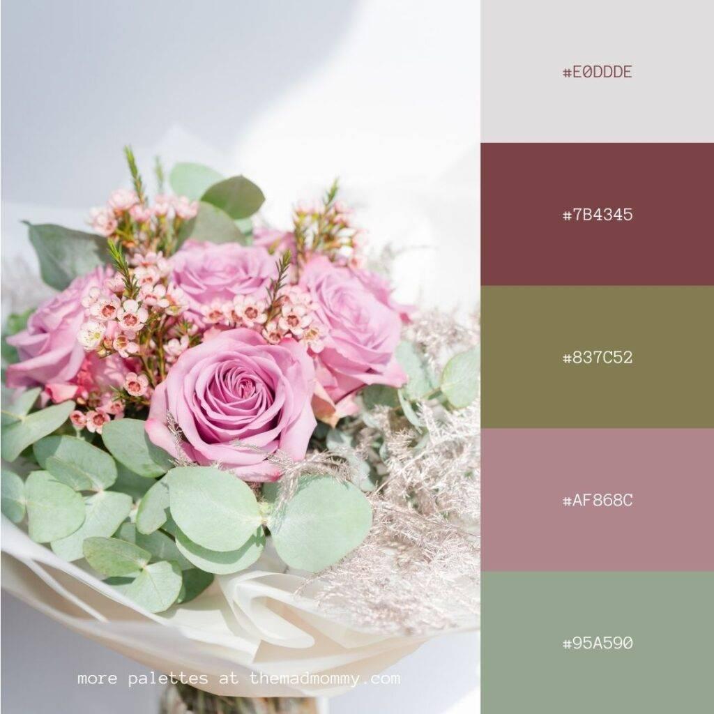 Floral Bouquet Color Palette