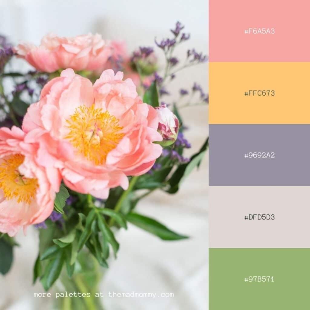 Peony Color Palette
