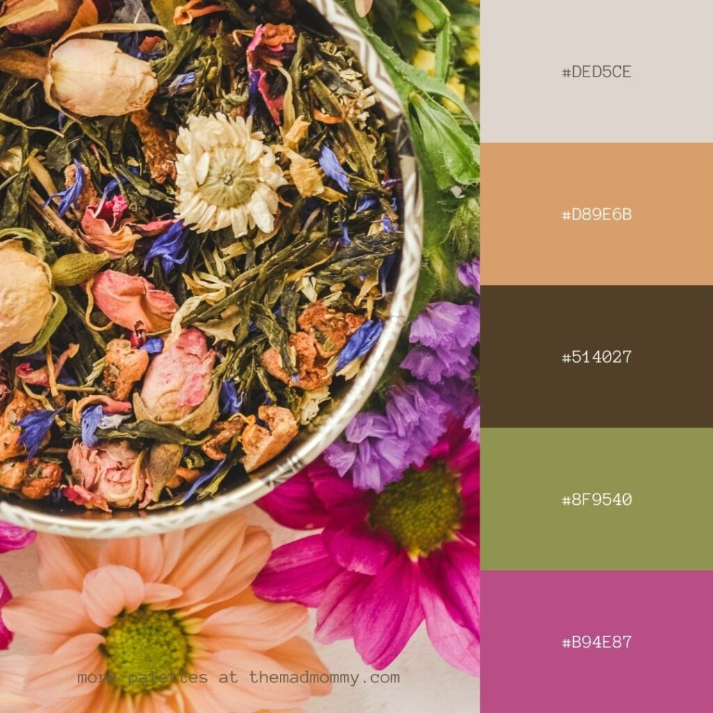 Herbs and Flowers Color Palette