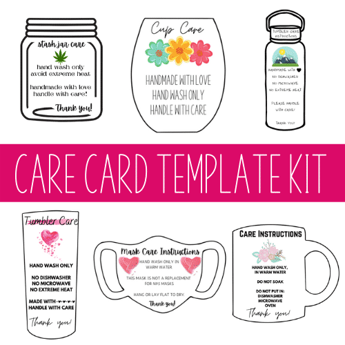 how to make care instruction cards for tumblers
