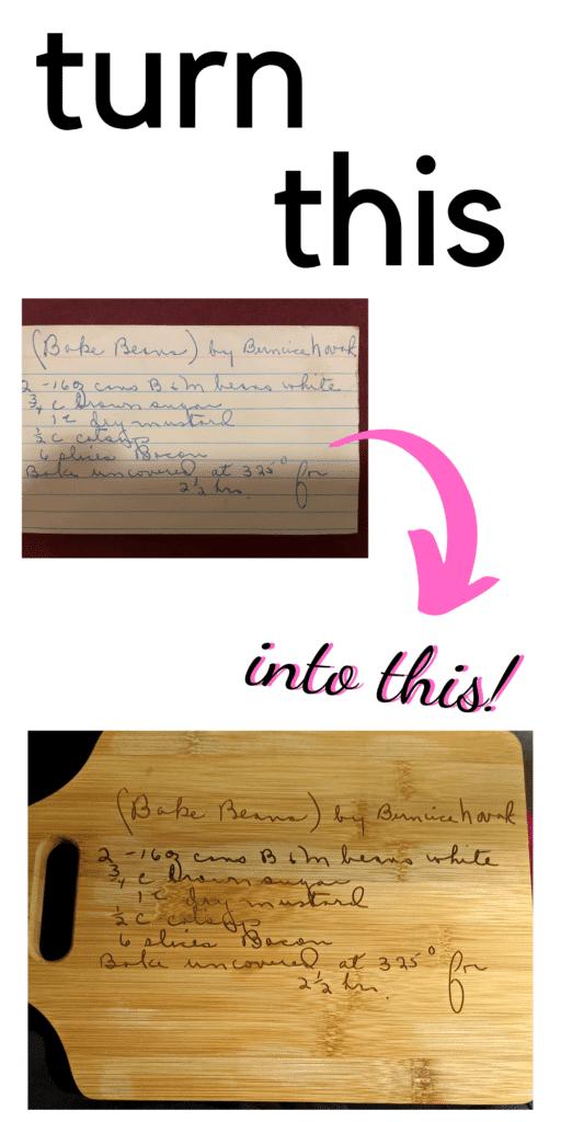 convert handwritten recipe to SVG