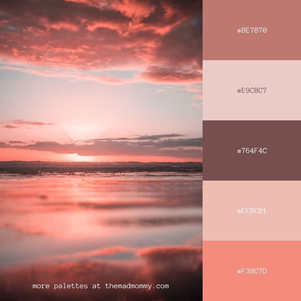 pink sky color palette