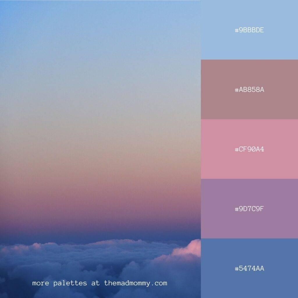sky sunset color palette
