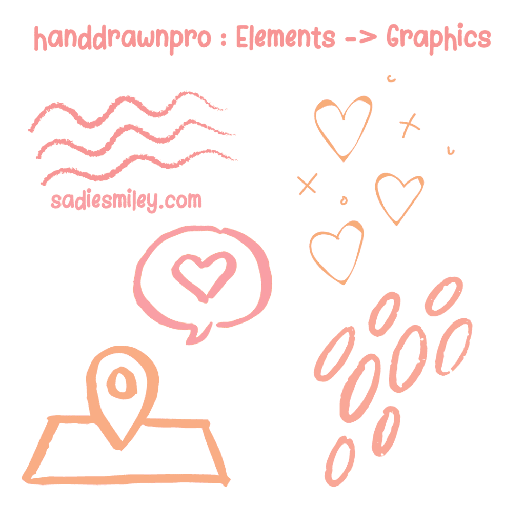 find hand drawn elements in canva