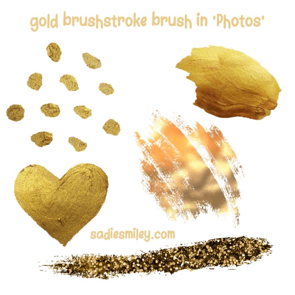 gold brush canva elements
