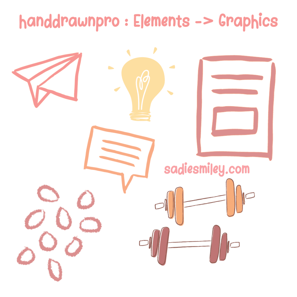 how to find hand drawn elements in canva