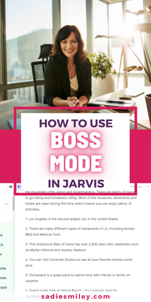 how to use jarvis boss mode in conversion.ai