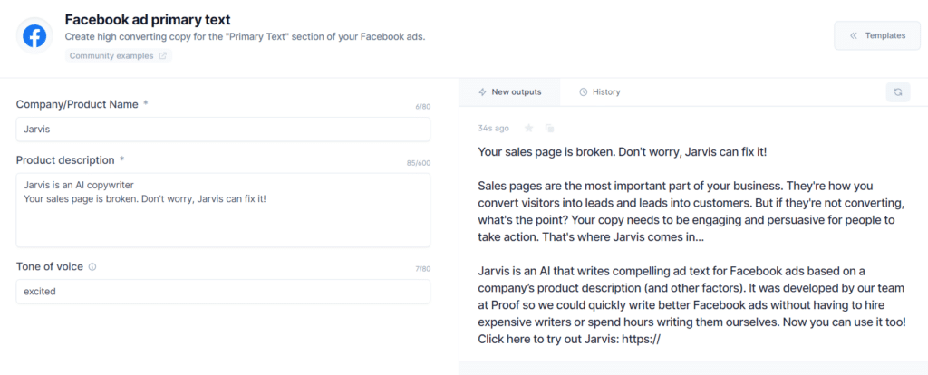 how to use jarvis for facebook ads