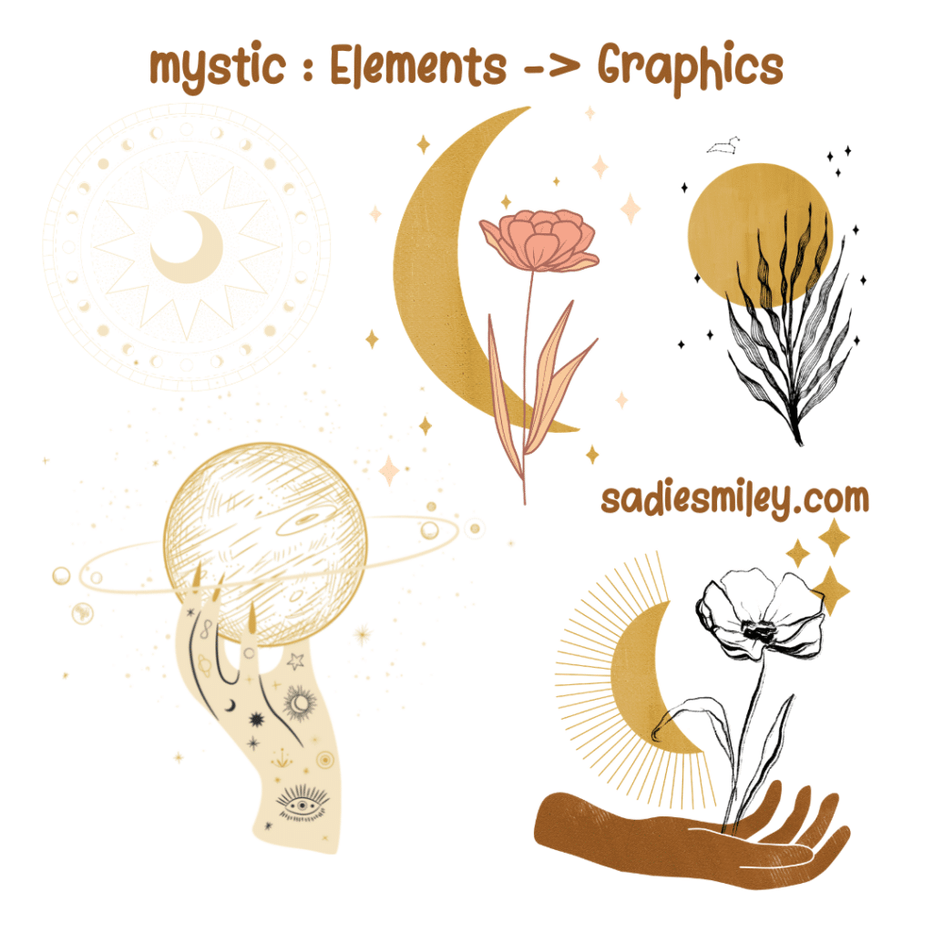 canva witchy elements