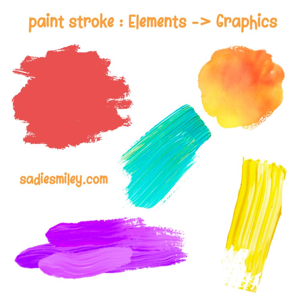 paint strokes canva elements